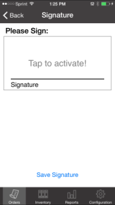Manufacturing-Signature Capture